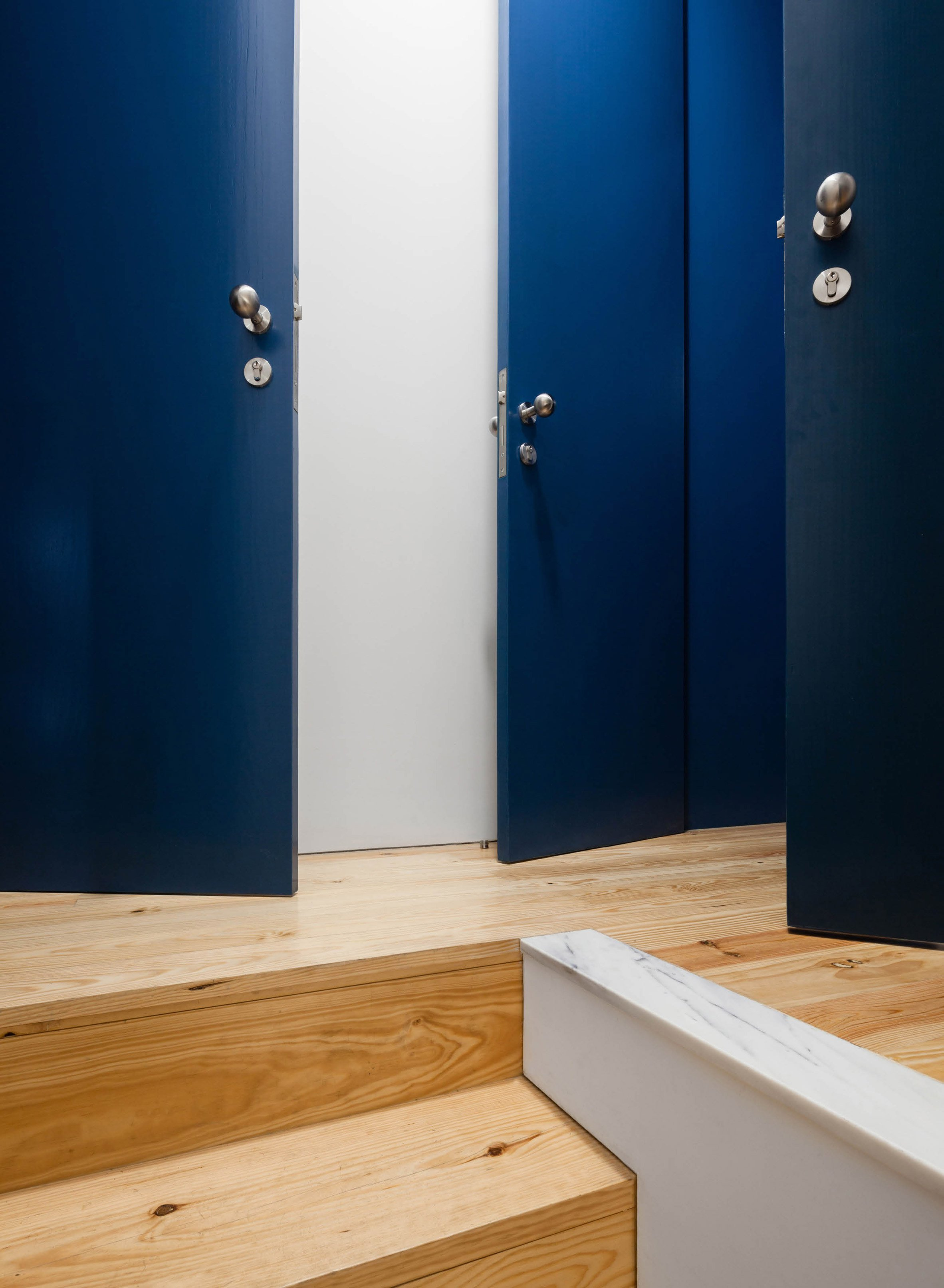 Portuguese Architecture Studio Fala Atelier Has Transformed It Into Five  Studio Apartments That Feature Matching Dark Blue Shutters And A Facade  Patterned ...