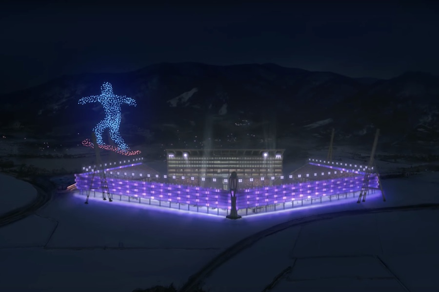 Winter Olympics 2018 opening ceremony with drones show – Photo by @Pyeongchang_2018