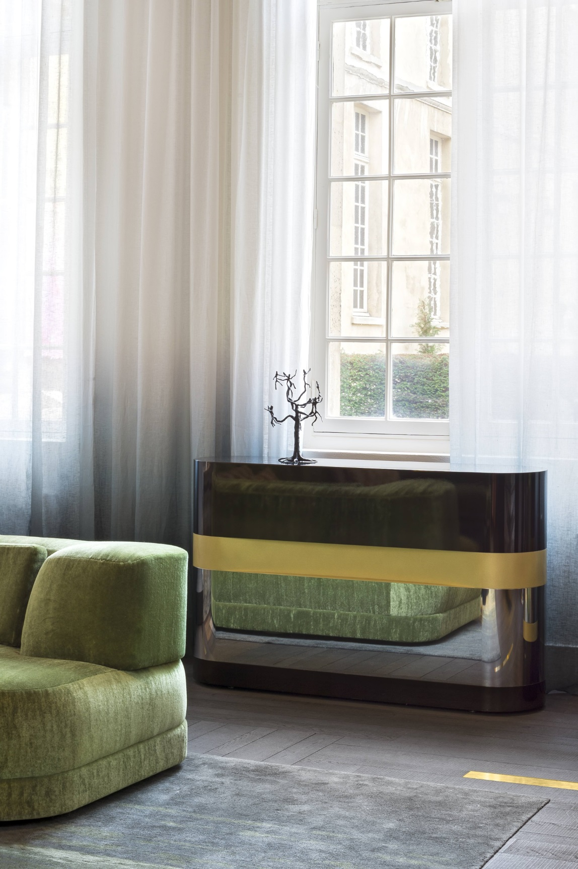 French curtains. Development of design and tailoring of French curtains do it yourself 7